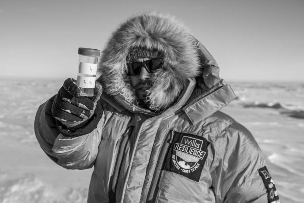 Collecting ice core samples Antarctica by Expedition Photographer Paddy Scott