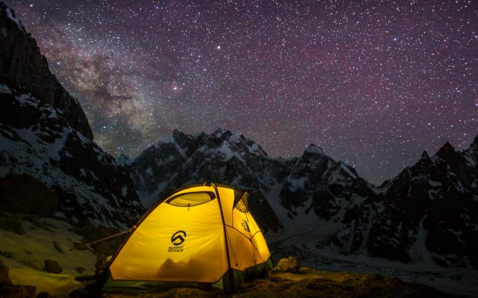 Milky way in the Himilayas by Expedition Photographer Paddy Scott