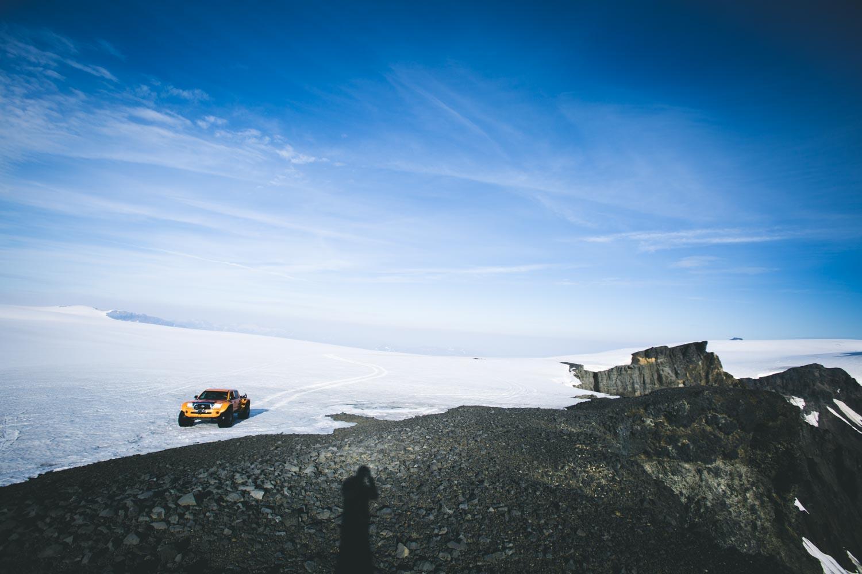 Arctic Truck on Icelandic Glacier